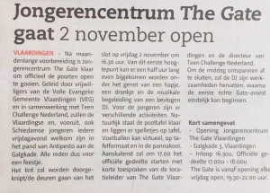 The Gate Vlaardingen gaat 2 november open!