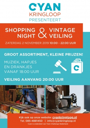 2 november CYAN Shopping Night & Vintage Veiling